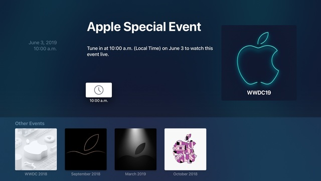 <strong>اپلیکیشن</strong> Apple Events <strong>بروزرسانی</strong> را <strong>برای</strong> نطق <strong>اصلی</strong> WWDC 2019 <strong>دریافت</strong> <strong>کرده</strong> است